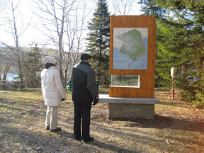 New signage at Point Pleasant Park in Halifax, Nova Scotia