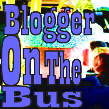 blogger on the bus