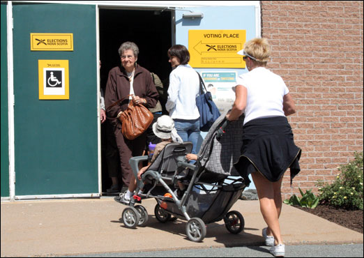 Bedford residents cast their ballots in the 38th Provincial General Election.