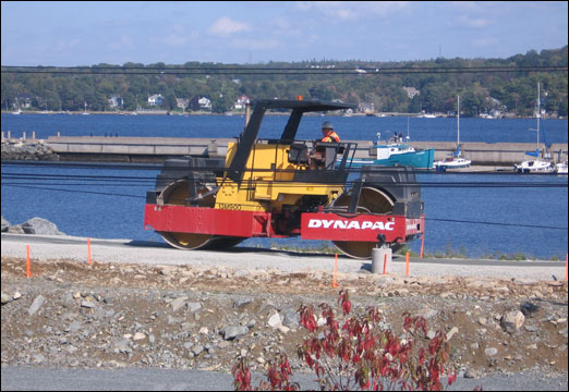 Paving has started along the Bedford Waterfront. The area outlined in the three plans encompasses the in-fill lands between the Bedford Highway and Bedford Basin, from the Boutiler Boatyard to the Clearwater Seafoods property.