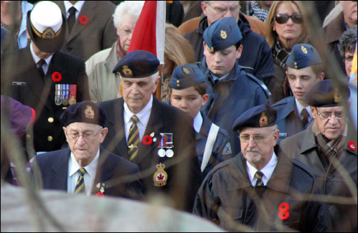 Hundreds of people attended the Remembrance Day ceremonies at the Bedford Cenotaph on Wednesday. View photos below.