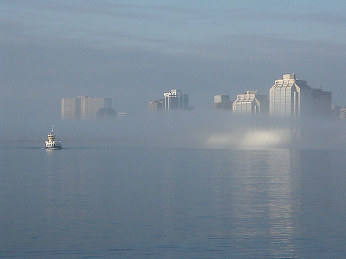 Morning fog (Halifax NS, July 7 2010)