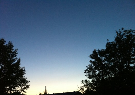 wordless wednesday: the midnight sun from my front door