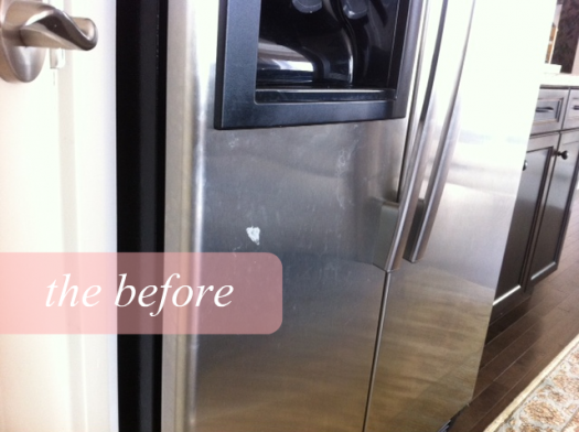 how to naturally clean stainless steel | before after