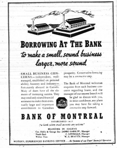 Retro Sunday March 1938 Bank of Montreal