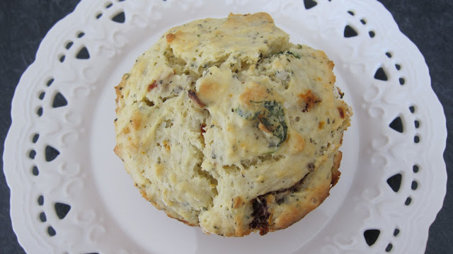 Muffin Monday: Ricotta, Basil Sun-dried Tomato