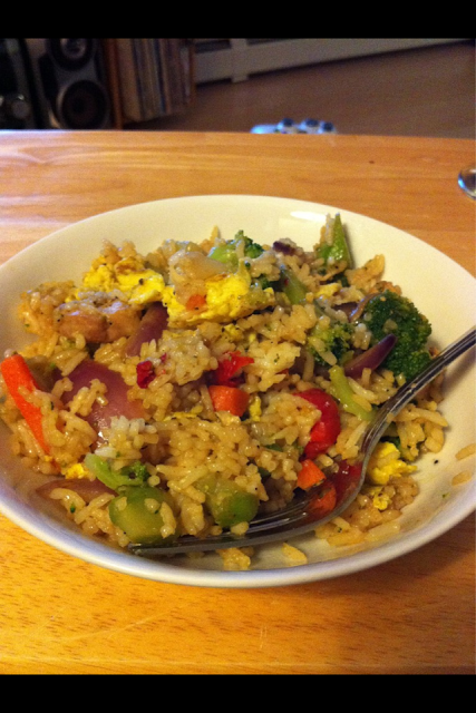 Vegetable Fried Rice w/ Chicken and Egg
