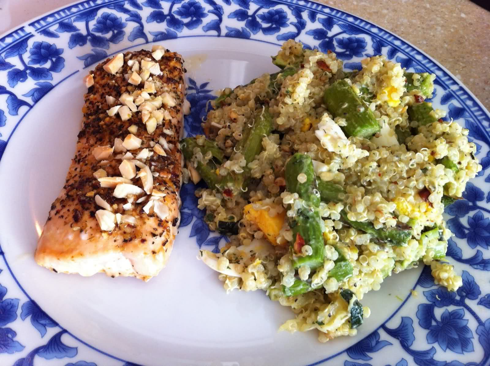 Shortcut Recipes: Zucchini and Aspargus Quinoa Salad