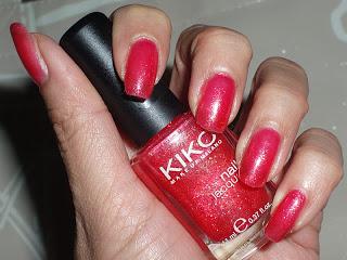 NOTD: Kiko Rosso Glitter Sparkle Touch