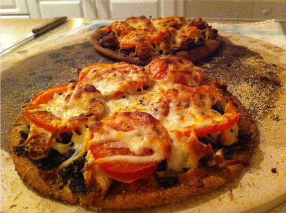 Basil Pesto Pita Pizza