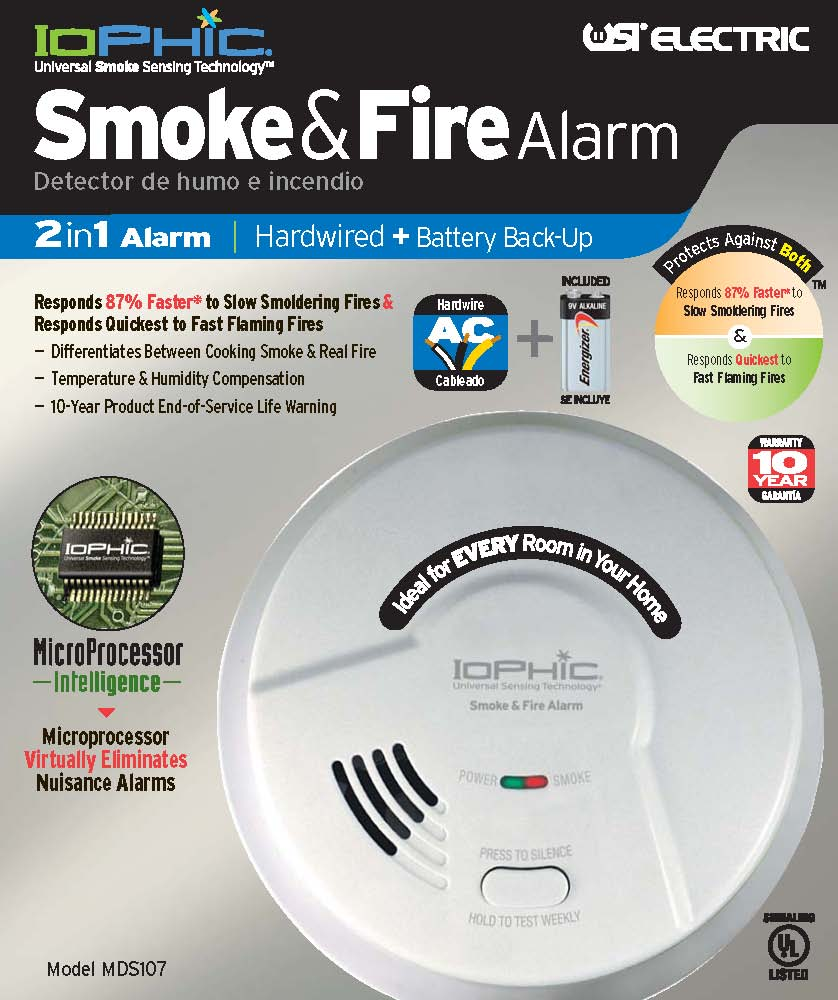keeping your home safe: an alarm that can distinguish between a real fire and smoke from cooking!