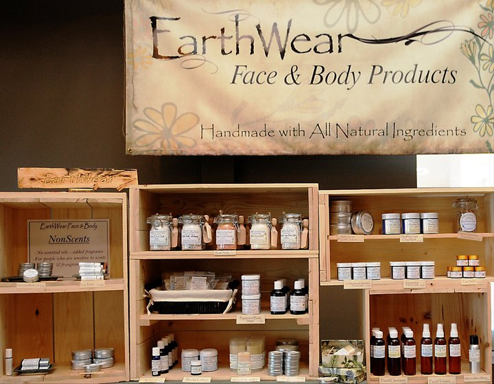 earthwear face body products | handmade with all natural ingredients