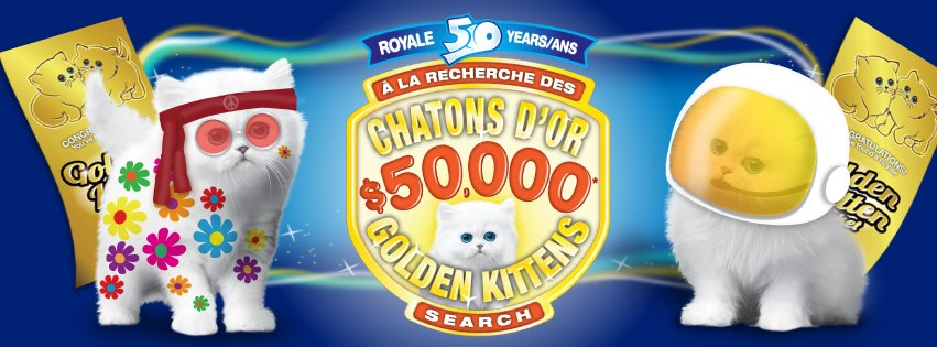 Royale Golden Kittens 50th Anniversary Promotion