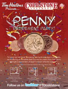 Goodbye Penny Retirement Party and Win with Coldstone Creamery