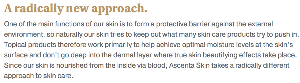 Ascenta Skin: A Review