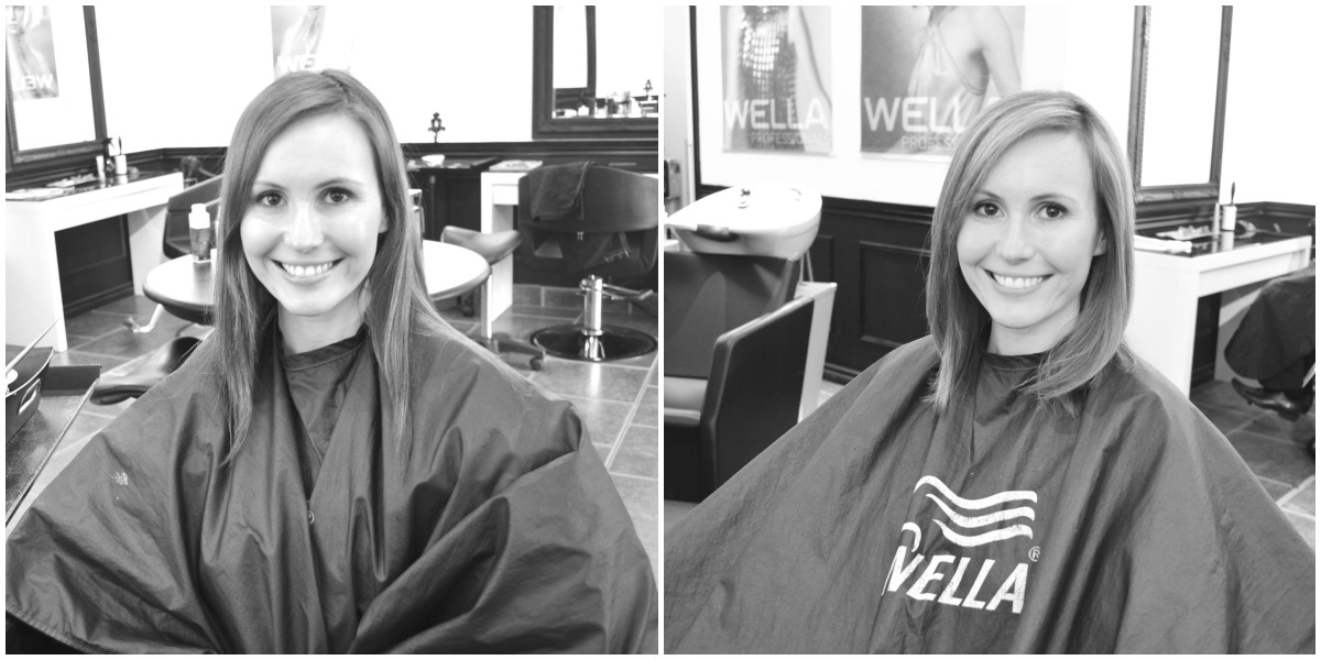 modern mom beauty series: my before + after hair makeover with ivory noir salon | part 1: chopped!
