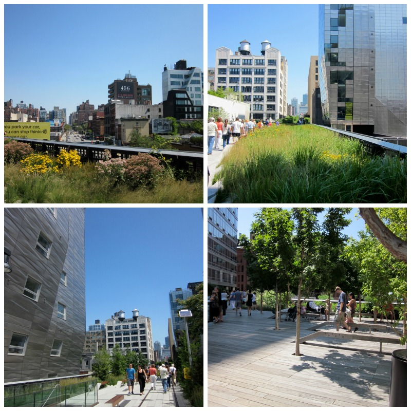 The High Line Collage by the Culinary Chase