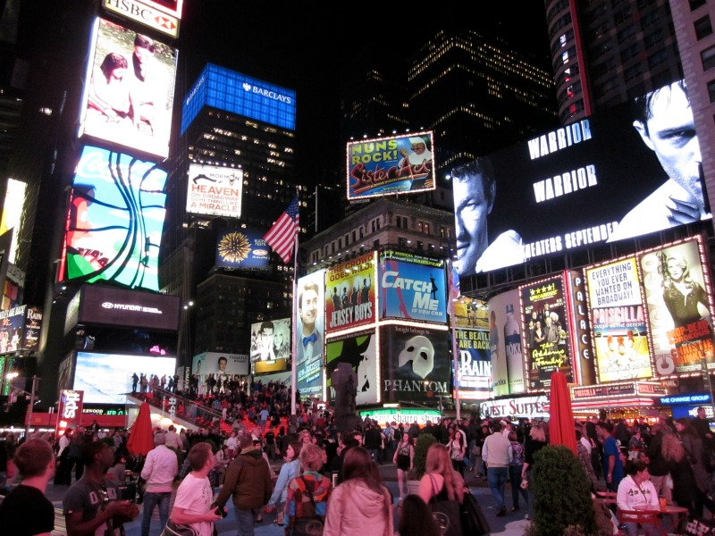 Time Square at night by The Culianry Chase