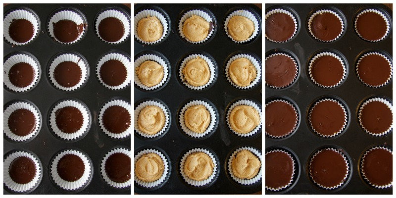 peanut butter cups collage by The Culinary Chase
