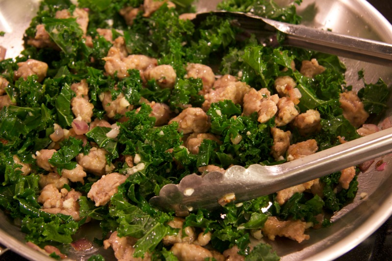kale & sausage by The Culinary Chase