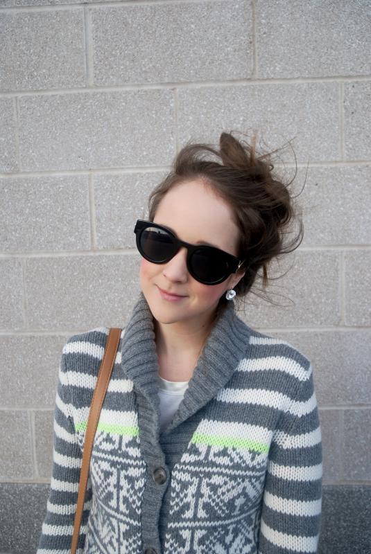 Earrings, Sunglasses, Messy Hair Don