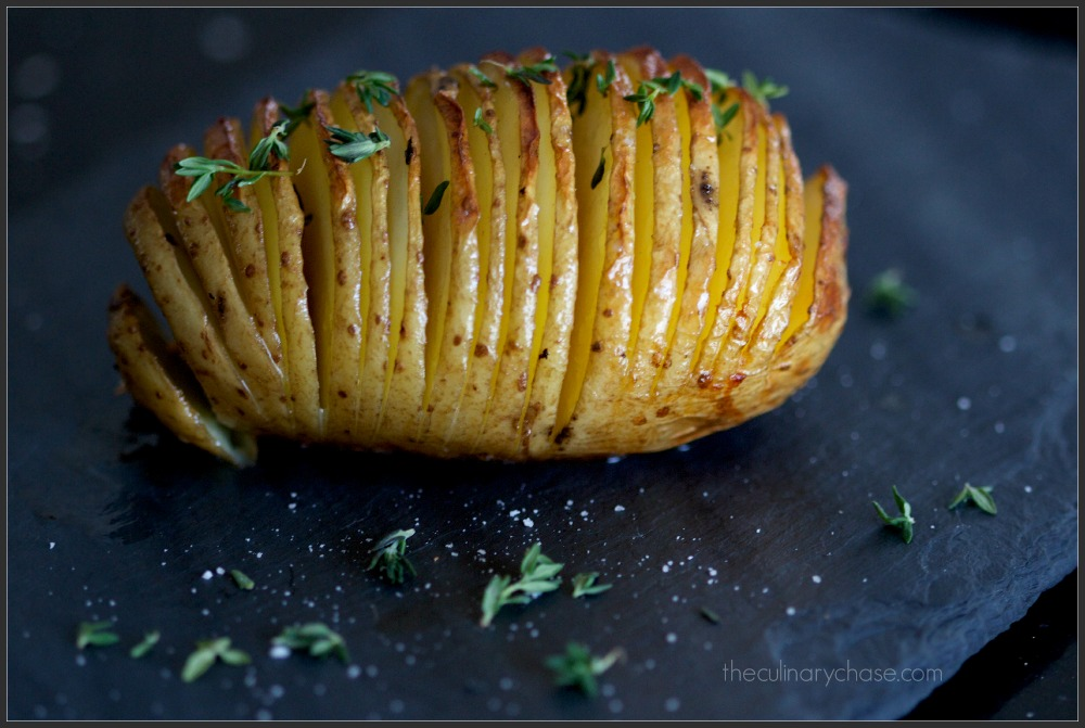 Hasselback Potato by The Culinary Chase