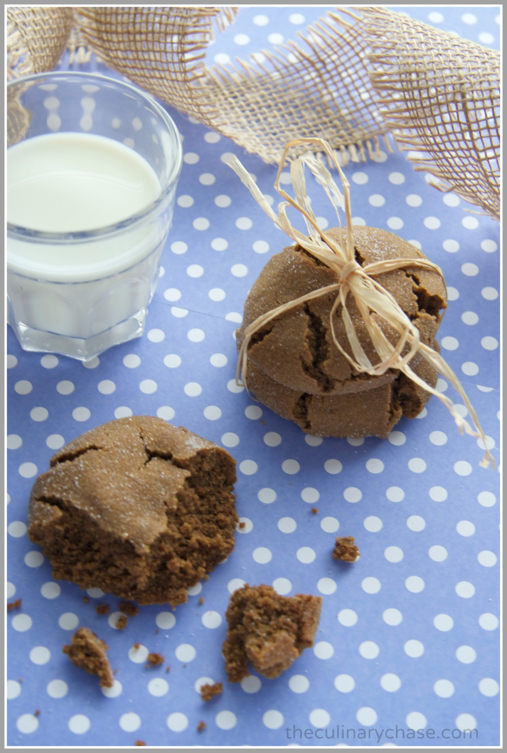 molasses cookies by The Culinary Chase