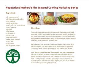 Vegetarian Shepherds Pie Workshop
