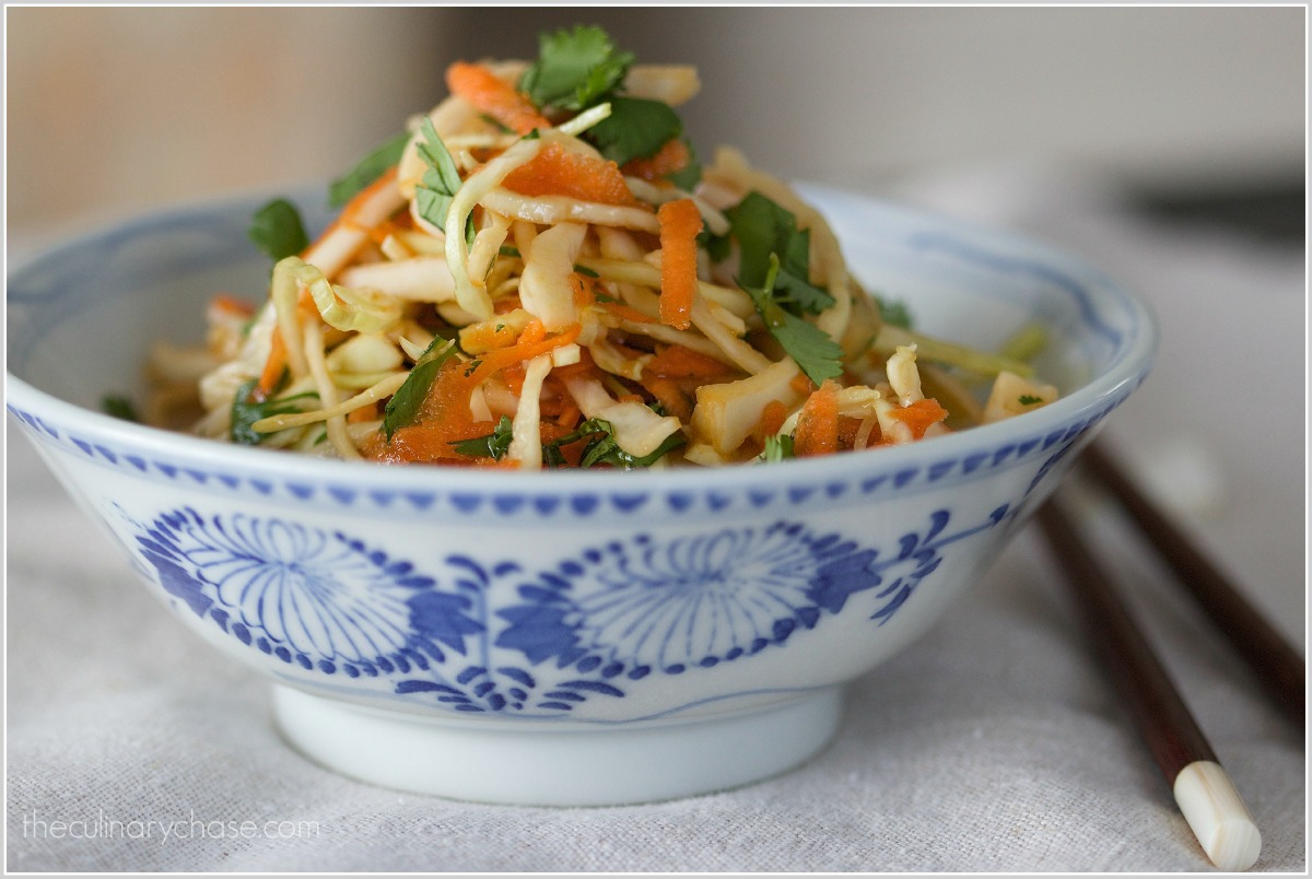coleslaw with Asian dressing by The Culinary Chase