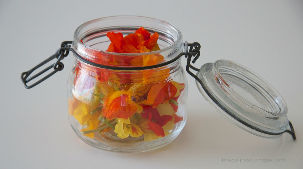 nasturtium flowers by The Culinary Chase