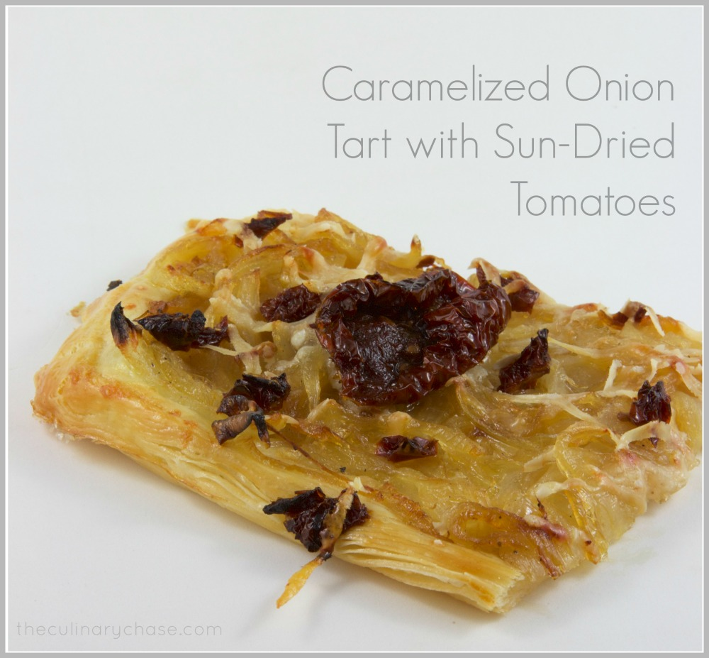 Caramelized Onion Tart with Sun-Dried Tomatoes by The Culinary Chase