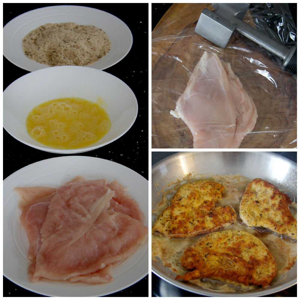 Turkey Cutlet Collage by The Culinary Chase