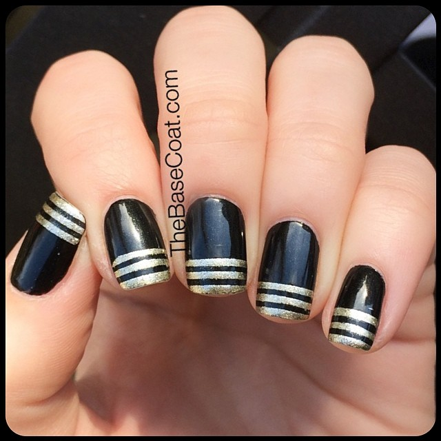 NOTD: Inspired by @nailsbyarelisp! They remind me of ancient Egypt (: I used @revlon Gold Coin & my beloved @zoyanailpolish Raven! #nailsofinstagram #nailstopleaseyou #paintednails #sgnailartpromote #weloveyournailart #nailstagram #nailsofig #nails2inspire #nailpromote #craftyfingers #dailydigits #dailynailart #fckyeahnailart #manicure #mani #nailpolish #nails #nailart #notd #nailitdaily #nailpolish #polish #nailartaddict #nailartwow #nailartoohlala