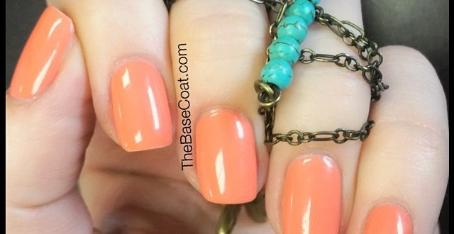 @essiecanada Resort Fling from the Resort 2014 collection. This cantaloupe colored jelly polish was mostly opaque in 4 coats, but I can still see a slight nail line when I look super closely.