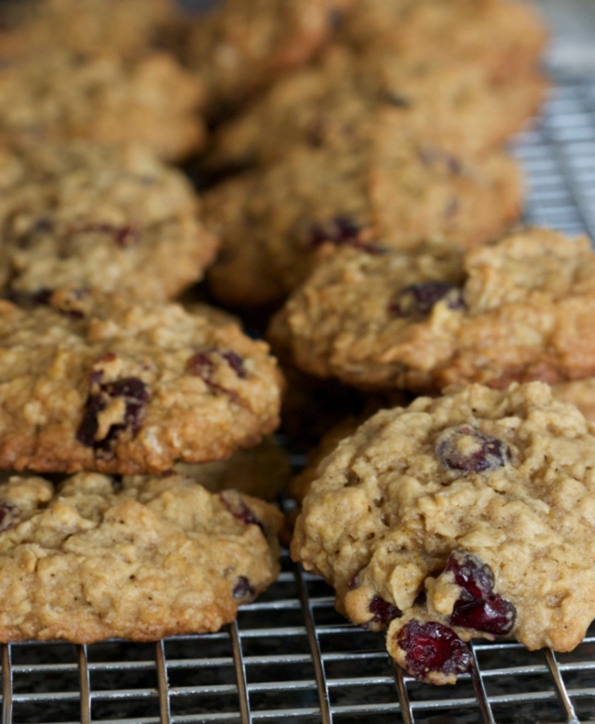 cranberry oatmeal cookies 2