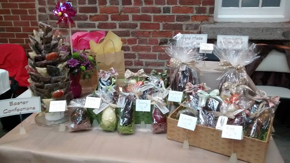 Rousseau's Easter chocolate for sale at the Historic Brewery Market.