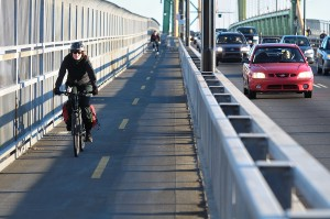 MacDonald Bridge bicycle and pedestrian routes and approach