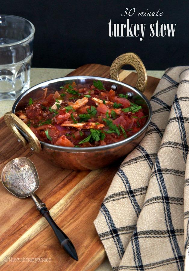30 minute turkey stew