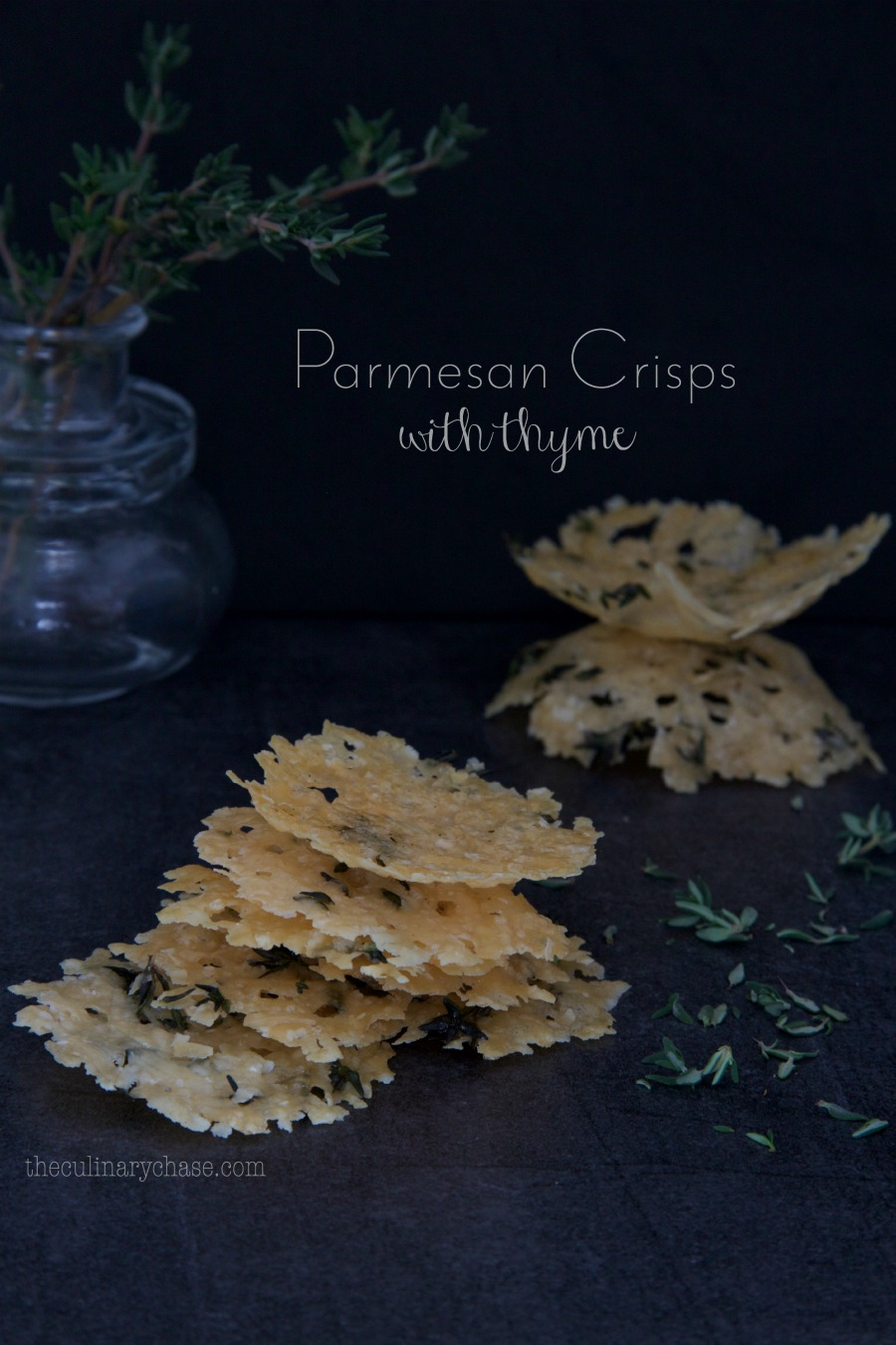 Parmesan Crisps with Thyme