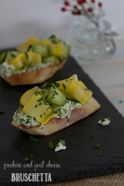 Zucchini & Goat Cheese Bruschetta