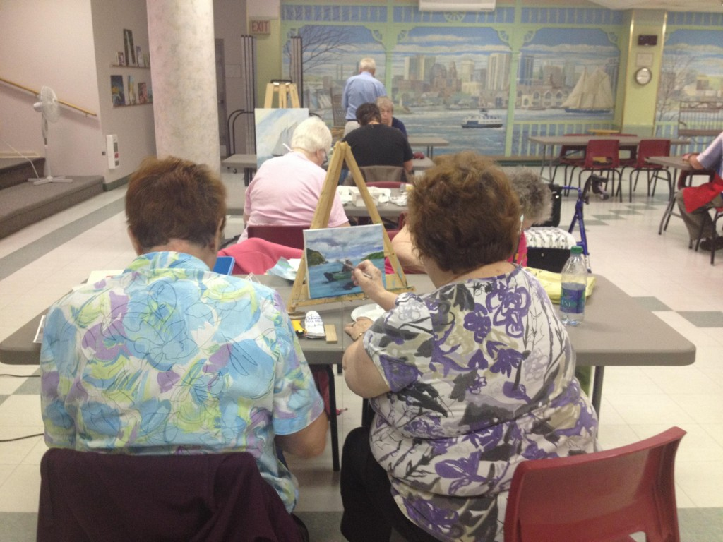 A shared interest in painting brings people together