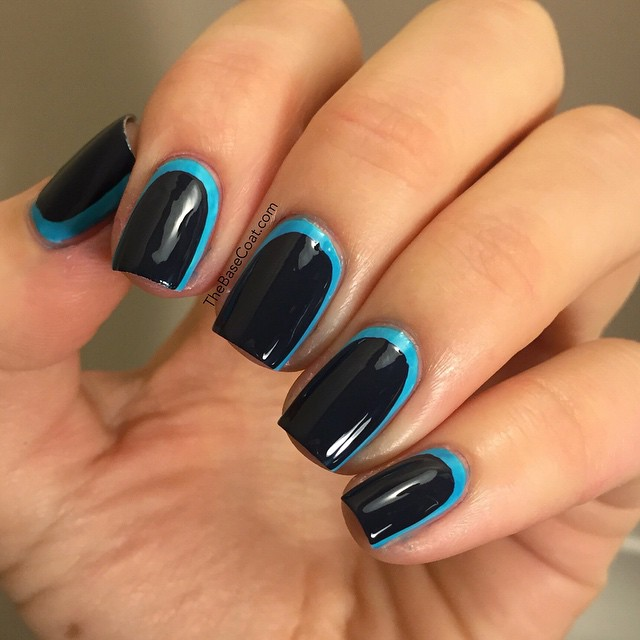 How to give your dark fall cream polishes a pop - add a bright color underneath to create a ruffian ? I used @essiecanada I
