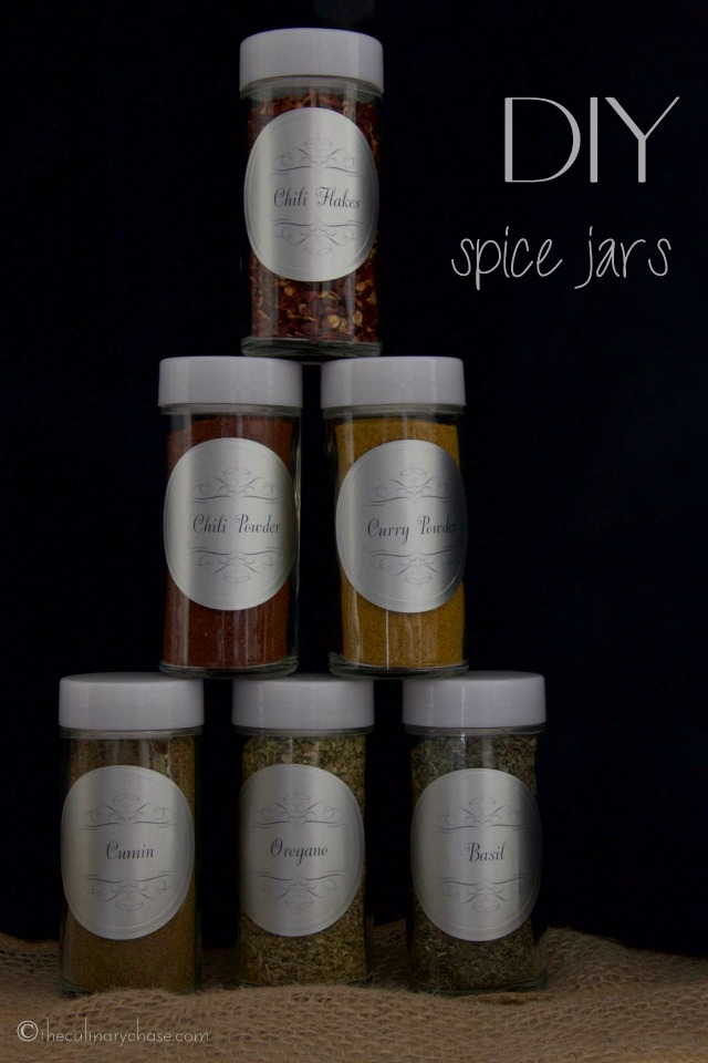 DIY Spice Jars