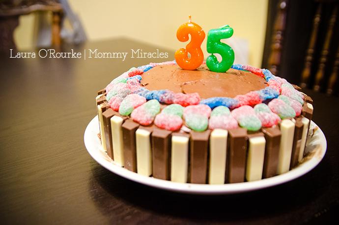 Red Velvet Candy Birthday Cake | Mommy Miracles