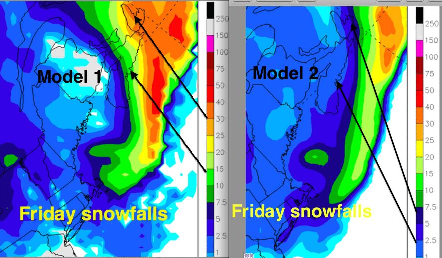 model snowfalls