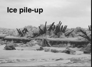Ice pile-up from Storm Surge: Northumberland Strait