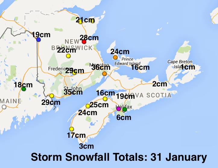 31 january snowfalls