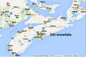 24h snow totals