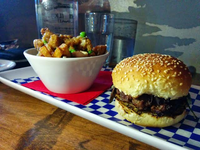Steakhouse Slider and Chicken Dinner Poutine from 2 Doors Down