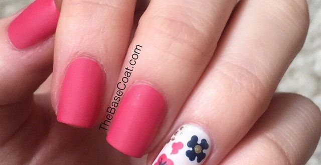 The Base Coat – Nails of The Day – Spring Floral | haligonia.ca
